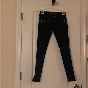 Black Bullhead Jeans w/studs